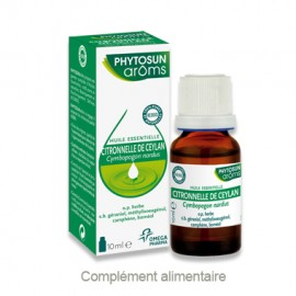 Phytosun Aroms Huile essentielle de Citronnelle de Ceylan – Flacon 5 ml