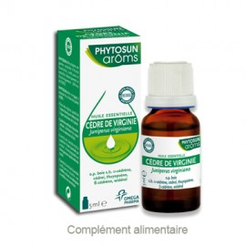 Phytosun Aroms Huile essentielle de Cèdre de Virginie  – Flacon 5 ml