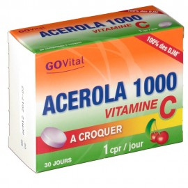 GoVital Acérola 1000 - 30 comprimés à croquer