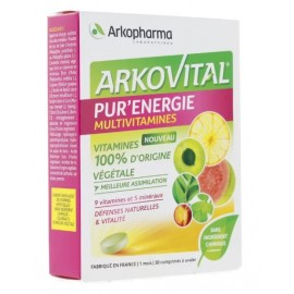 Arkovital Pur'Energie multivitamines – 30 comprimés à avaler