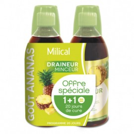 MILICAL draineur ultra ananas BOISSON lot de 2