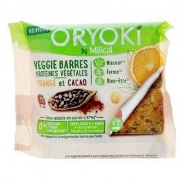 Milical Oryoki Veggie Barres Cacao Orange – 2 unités