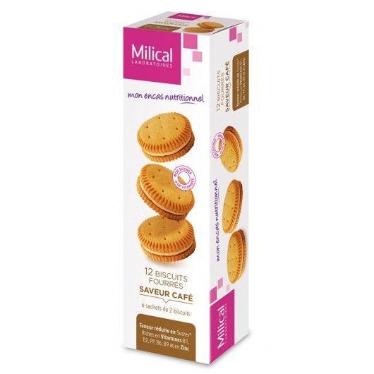 Milical biscuits fourrés café