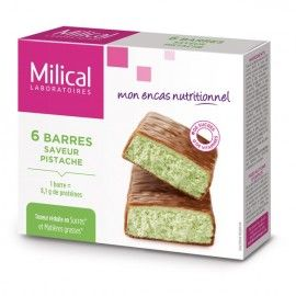 Milical Barre HP Chocolat pistache – 6 barres
