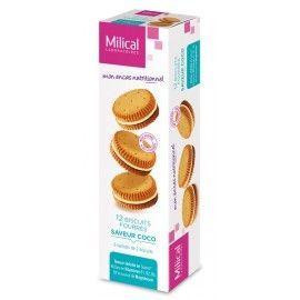 Milical Biscuits fourrés saveur coco – Boîte de 12