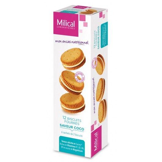 Milical Biscuits fourrés saveur coco