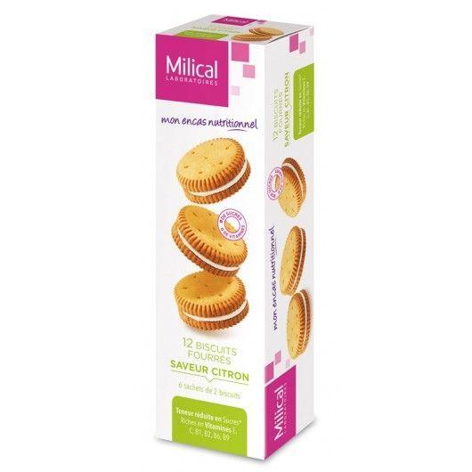 Milical Biscuits fourrés saveur citron
