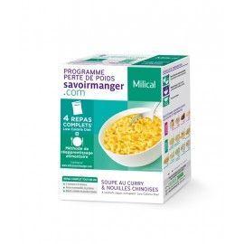 MILICAL LCD Soupe Nouilles curry 4 sachets
