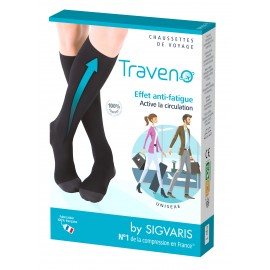 Chaussettes de voyage Traveno boite recto