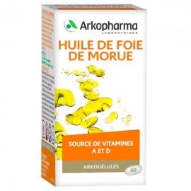Arkogélules Huile de foie de morue - 45 capsules