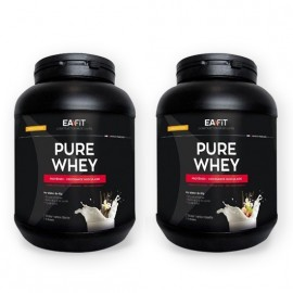 Eafit Pure whey vanille intense et double chocolat – Lot de 2x750g