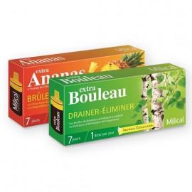 MILICAL Extra Bouleau et Ananas – Lot de 2 x 7 fioles