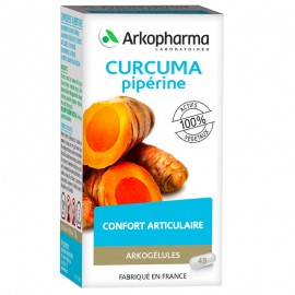 Arkogélules Curcuma pipérine – 45 gélules