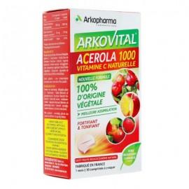 Arkovital Acérola 1000 Vitamine C 100% naturelle – 30 comprimés