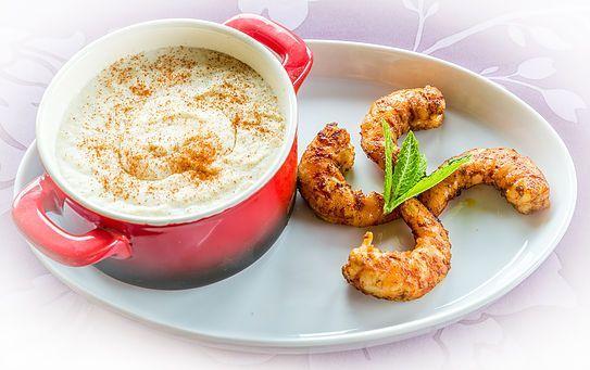 Crème de choux fleurs et crevettes - 3B Nutrition