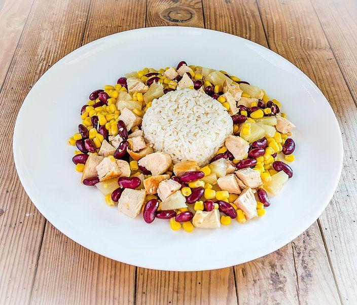 Salade hawaïenne au blanc de dinde et à l'ananas