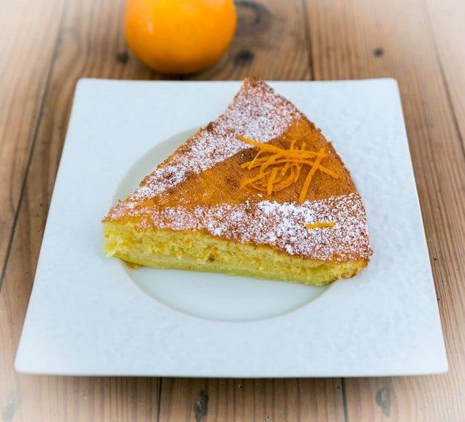 Gâteau léger à l'orange et aux épices