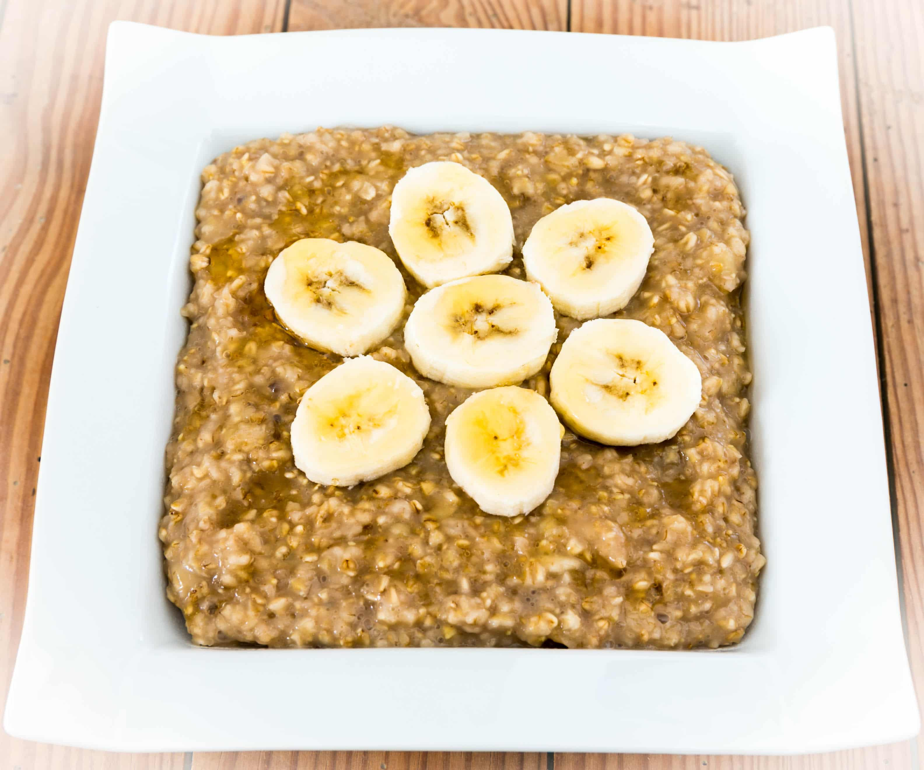 Porridge banane sirop d'érable