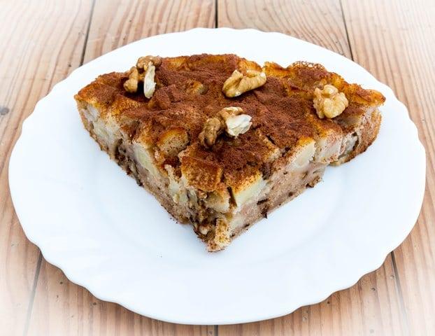 Gâteau sport pomme choco noir noix