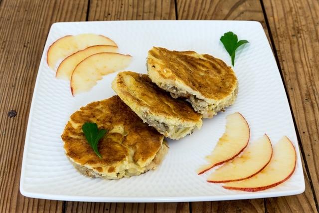 Omelette à la pomme et cannelle