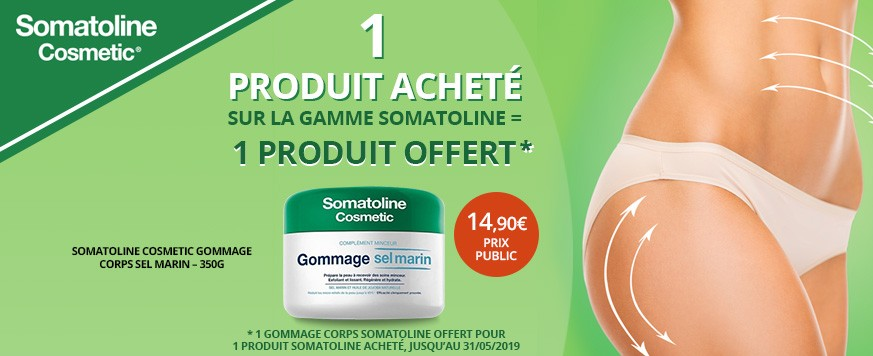 1 produit Somatoline acheté = 1 produit offert