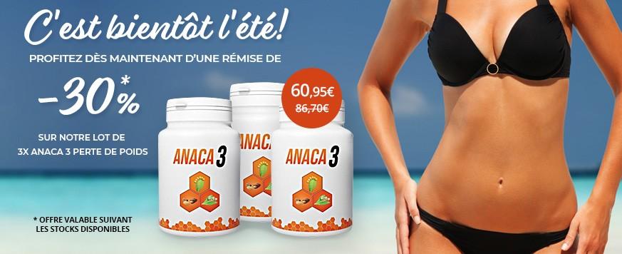 Remise exceptionnelle sur le lot de 3 Anaca 3 perte de poids